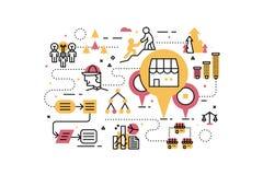 Franchise business illustration Stock Images