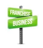 Franchise business road sign illustration design Stock Photo