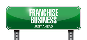 Franchise business street sign illustration design Royalty Free Stock Photography