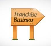 Franchise business wood sign illustration design Stock Photos