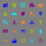 Franchise color icons on gray background Royalty Free Stock Photography