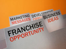 Franchise file Royalty Free Stock Photos