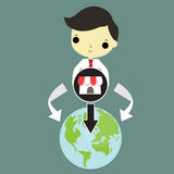 Franchise market around world Royalty Free Stock Images