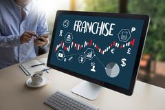 FRANCHISE  Marketing Branding Retail and Business Work Mission C Stock Image