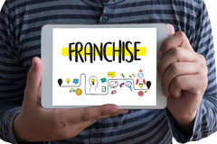 FRANCHISE Marketing Branding Retail and Business Work Mission C. Oncept stock photos