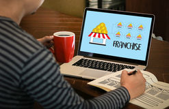 FRANCHISE Marketing Branding Retail and Business Work Mission C. Oncept stock photography