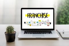 FRANCHISE Marketing Branding Retail and Business Work Mission C. Oncept royalty free stock images