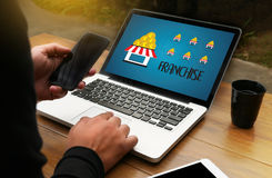 FRANCHISE    Marketing Branding Retail and Business Work Mission Royalty Free Stock Image