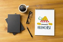 FRANCHISE Marketing Branding Retail and Business Work Mission C. Oncept stock image