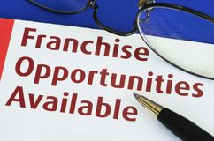 Franchise opportunities. Concept of new business opportunities royalty free stock images