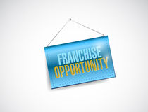 Franchise opportunity hanging banner. Illustration design over a white background Royalty Free Stock Image