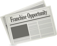 Franchise opportunity newspaper Royalty Free Stock Photo
