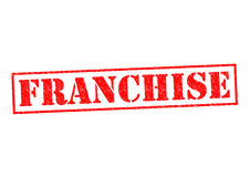 FRANCHISE. Red Rubber Stamp over a white background Stock Images