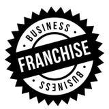 Franchise stamp typographic stamp. Franchise stamp. Typographic sign, stamp or logo Royalty Free Stock Photo
