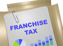Franchise Tax - business concept. 3D illustration of FRANCHISE TAX title on business document Royalty Free Stock Photography