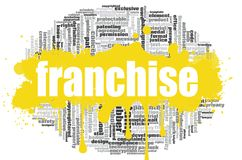 Franchise word cloud. Concept on white background, 3d rendering Royalty Free Stock Images