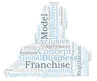 Franchise word cloud Stock Photography