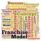 Franchise word cloud Royalty Free Stock Photos
