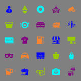 Franchisee business color icons on gray background Royalty Free Stock Images