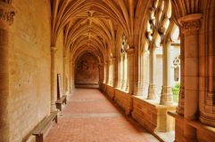Francia, abadía de Cadouin en Perigord fotografía de archivo libre de regalías