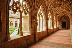 Francia, abadía de Cadouin en Perigord Imágenes de archivo libres de regalías
