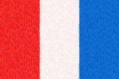 Francia, bandera con la gente del palillo, los ciudadanos, el gr?fico conceptual, la muchedumbre de hombres azules y blancos rojo ilustración del vector