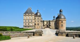 Francia, castillo de Hautefort en Dordoña Foto de archivo libre de regalías