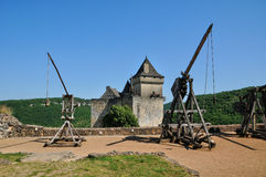 Francia, castillo pintoresco de Castelnaud en Dordoña Fotos de archivo