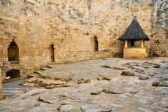 Francia, castillo pintoresco de Castelnaud en Dordoña Fotografía de archivo libre de regalías