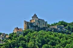 Francia, castillo pintoresco de Castelnaud en Dordoña Imagen de archivo libre de regalías