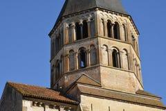 Francia, ciudad pintoresca de Cluny en Saone y el Loira Fotos de archivo