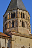 Francia, ciudad pintoresca de Cluny en Saone y el Loira Imagen de archivo