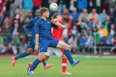 Francia contra Austria (U19) foto de archivo
