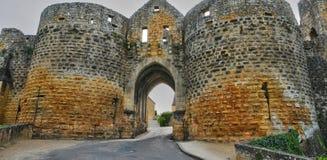 Francia, DES pintoresco de Porte viaja en Domme Imagen de archivo libre de regalías