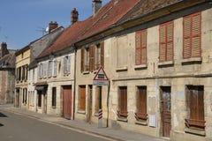 Francia, el pueblo pintoresco de carbones de leña Fotografía de archivo libre de regalías