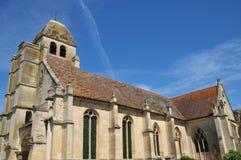 Francia, el pueblo pintoresco de en Vexin de Guiry Fotografía de archivo libre de regalías