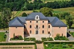 Francia, el pueblo pintoresco de Hautefort Imagen de archivo libre de regalías