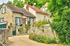 Francia, el pueblo pintoresco de la isla Haute Fotografía de archivo
