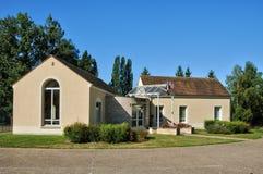 Francia, el pueblo pintoresco de Montgeroutl Foto de archivo libre de regalías