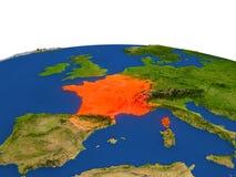 Francia en rojo de la órbita ilustración del vector