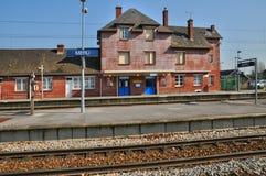 Francia, estación de Meru en Oise Foto de archivo libre de regalías