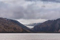 Francia Glacier no canal do lebreiro, o Chile Fotografia de Stock