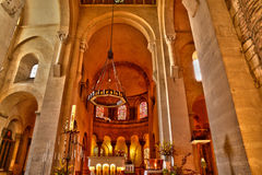 Francia, la abadía pintoresca de Philibert del santo de Tournus en el Sa Imagen de archivo libre de regalías