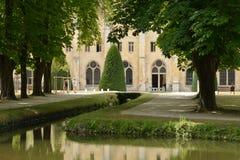 Francia, la abadía pintoresca de Royaumont en Val d Oise Imagen de archivo