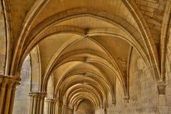 Francia, la abadía pintoresca de Royaumont en Val d Oise Fotografía de archivo libre de regalías