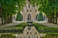 Francia, la abadía pintoresca de Royaumont en Val d Oise Fotografía de archivo