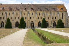 Francia, la abadía pintoresca de Royaumont en Val d Oise Imágenes de archivo libres de regalías