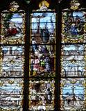 Francia, la ciudad pintoresca de Ivry la Bataille Foto de archivo libre de regalías