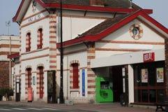 Francia, la ciudad pintoresca de Marly le Roi foto de archivo