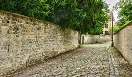 Francia, la ciudad pintoresca de Poissy Imagenes de archivo
